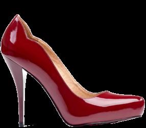 roter Damenschuh